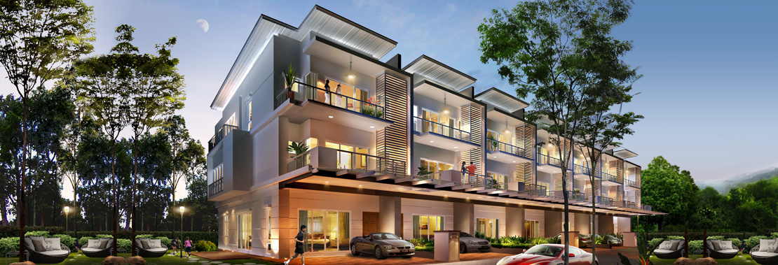 Garden residences gardens ville for 3 storey terrace house design